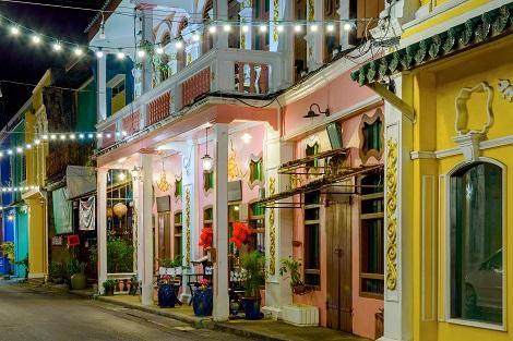 プーケット:夜の旧市街