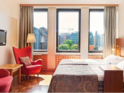 ヘルシンキ:ソコス ホテル ヴァークナ 客室一例
