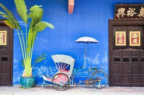 ペナン島:街の一角