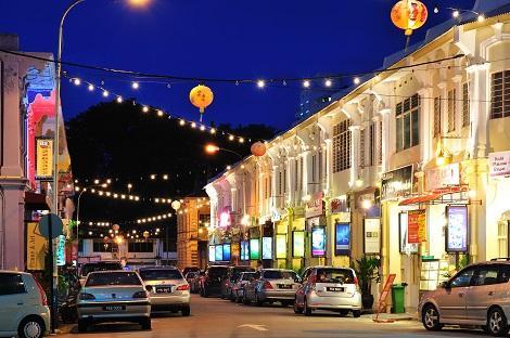 ペナン島:ジョージタウンの街並み