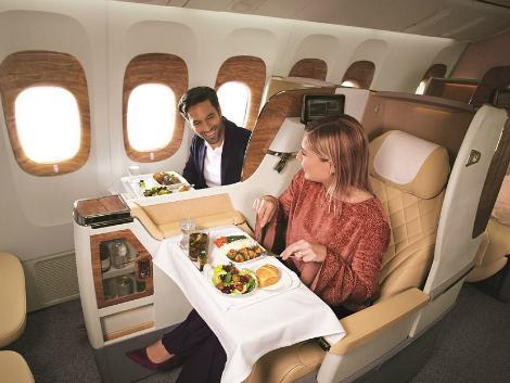 エミレーツ航空:ボーイング777 ビジネスクラス