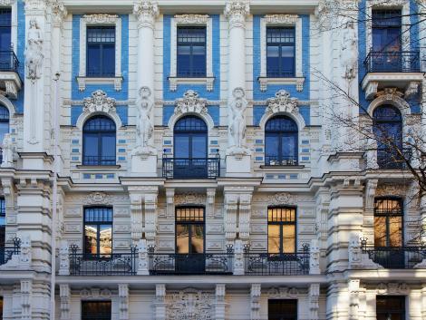 ◇◎リガ:ユーゲント様式の建物