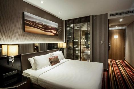 バンコク:ザ コンチネント ホテル 客室一例