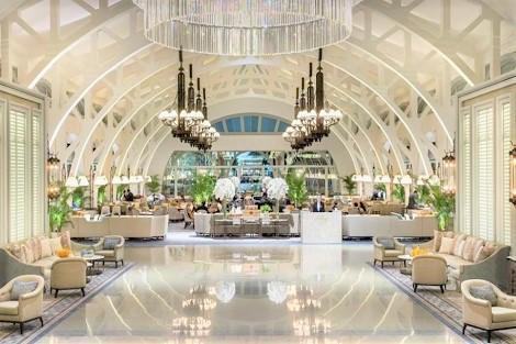シンガポール:ザ フラートン ベイ ホテル ロビー