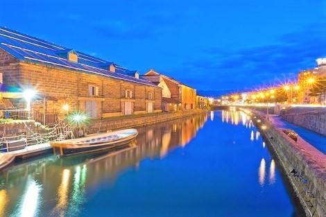 小樽:運河の夜景