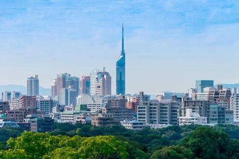 ◇福岡:福岡市とマリンタワー