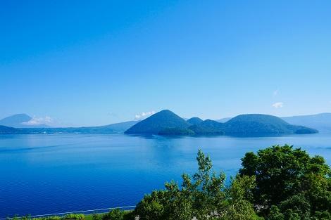 洞爺湖:サイロ展望台からの眺め