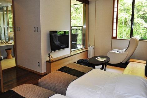 ニセコ:鶴雅別荘 杢の抄 露天風呂付き客室一例(鶴雅別荘 杢の抄公式ホームページより)